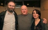 with Karan and Christy Moore (photo by Derek Spiers)